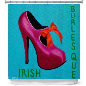 Premium Shower Curtains | John Nolan - Irish Burlesque Shoe | Stamp heel still life close up Ireland