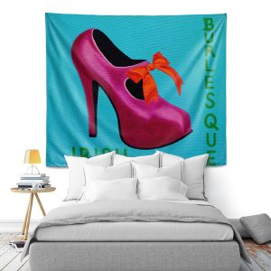 Artistic Wall Tapestry | John Nolan - Irish Burlesque Shoe | Stamp heel still life close up Ireland