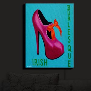 Nightlight Sconce Canvas Light | John Nolan - Irish Burlesque Shoe