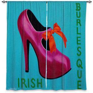 Decorative Window Treatments | John Nolan - Irish Burlesque Shoe | Stamp heel still life close up Ireland