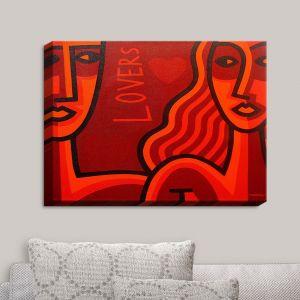 Decorative Canvas Wall Art | John Nolan - Lovers | People Stylized