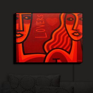 Nightlight Sconce Canvas Light | John Nolan - Lovers | People Stylized