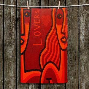 Unique Hanging Tea Towels | John Nolan - Lovers | People Stylized