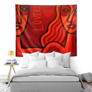 Artistic Wall Tapestry | John Nolan - Lovers