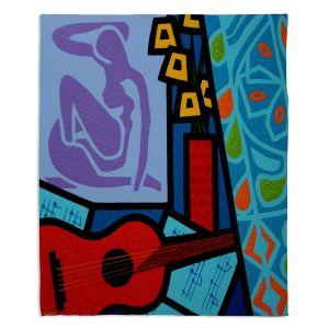 Decorative Fleece Throw Blankets | John Nolan - Matisse | inspiration abstract surreal portrait