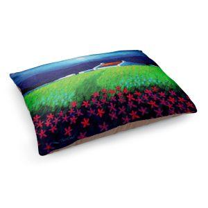 Decorative Dog Pet Beds | John Nolan - Moonlight Flowers | landscape farm field nature