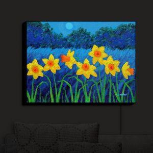 Nightlight Sconce Canvas Light | John Nolan's Moonlit Daffodils