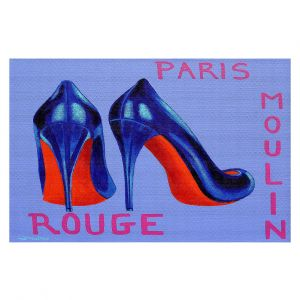 Decorative Floor Covering Mats | John Nolan - Paris Burlesque Shoe | Stamp heel still life close up France