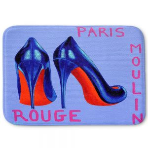 Decorative Bathroom Mats | John Nolan - Paris Burlesque Shoe | Stamp heel still life close up France