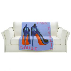 Artistic Sherpa Pile Blankets | John Nolan - Paris Burlesque Shoe | Stamp heel still life close up France