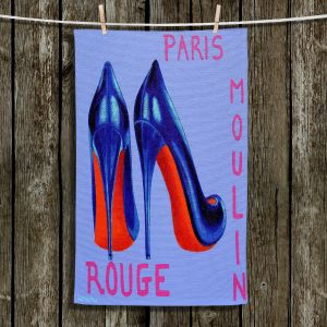 Unique Hanging Tea Towels | John Nolan - Paris Burlesque Shoe | Stamp heel still life close up France
