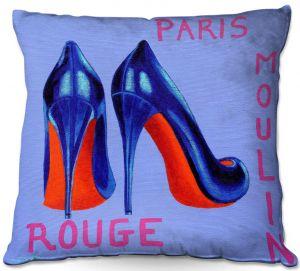 Throw Pillows Decorative Artistic | John Nolan - Paris Burlesque Shoe | Stamp heel still life close up France