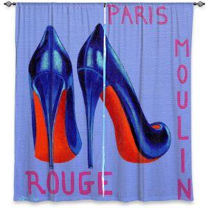 Decorative Window Treatments | John Nolan - Paris Burlesque Shoe | Stamp heel still life close up France