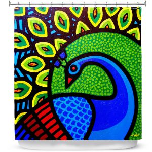 Unique Shower Curtain from DiaNoche Designs by John Nolan - Peacock