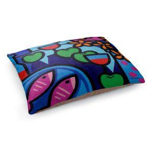 Decorative Dog Pet Beds | John Nolan - Pink Fish | still life pop art dinner food