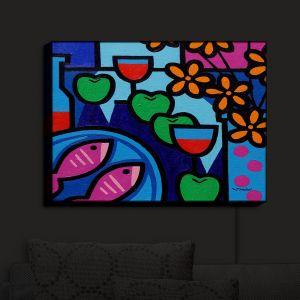 Nightlight Sconce Canvas Light | John Nolan - Pink Fish | still life pop art dinner food