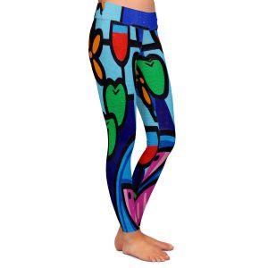 Casual Comfortable Leggings | John Nolan - Pink Fish | still life pop art dinner food