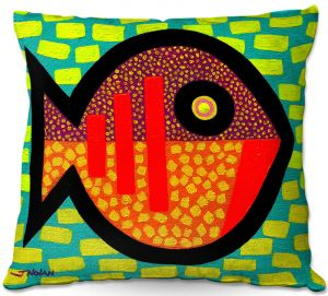 Unique Throw Pillows from DiaNoche Designs by John Nolan - Pisces   18X18