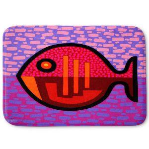 Decorative Bathroom Mats | John Nolan - Pisces 2 | fish nature side view