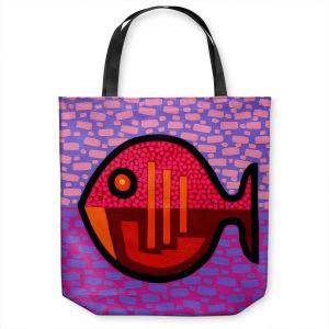 Unique Shoulder Bag Tote Bags | John Nolan - Pisces 2 | fish nature side view