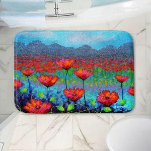 Decorative Bathroom Mats | John Nolan - Poppy Cluster I