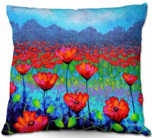 Unique Outdoor Pillows from DiaNoche Designs by John Nolan - Poppy Cluster I
