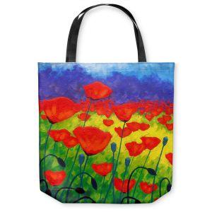 Unique Shoulder Bag Tote Bags   John Nolan Poppy Corner II
