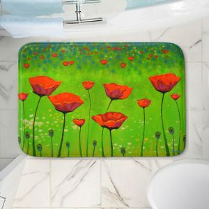 Decorative Bathroom Mats | John Nolan - Poppy Grass | still life landscape nature field