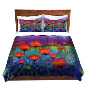 Artistic Duvet Covers and Shams Bedding | John Nolan - Poppy Meadow