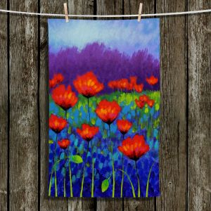 Unique Bathroom Towels | John Nolan - Poppy Meadow