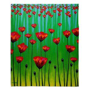 Decorative Fleece Throw Blankets   John Nolan - Poppy Notes   flower nature simple