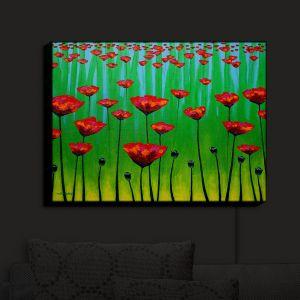 Nightlight Sconce Canvas Light | John Nolan - Poppy Notes | flower nature simple