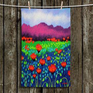 Unique Bathroom Towels   John Nolan - Poppyscape   flower nature simple field