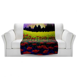 Artistic Sherpa Pile Blankets | John Nolan - Poppy Vista III