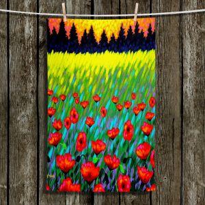 Unique Hanging Tea Towels   John Nolan - Poppy Vista II   Poppies Flowers Landscape