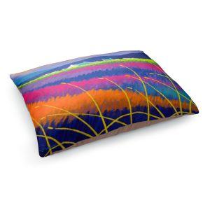 Decorative Dog Pet Beds | John Nolan - Rainbow Meadow | surreal colors flowers landscape