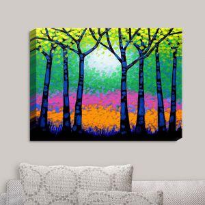 Decorative Canvas Wall Art | John Nolan - Seven Trees | Trees Nature