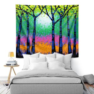 Artistic Wall Tapestry | John Nolan - Seven Trees