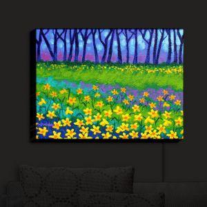 Nightlight Sconce Canvas Light   John Nolan's Spring Daffs II
