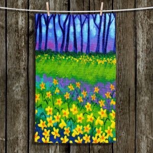 Unique Hanging Tea Towels | John Nolan - Spring Daffs II | Flowers Nature