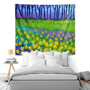 Artistic Wall Tapestry   John Nolan Spring Daffs II