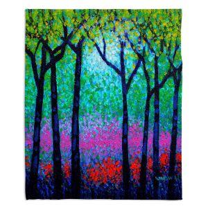 Decorative Fleece Throw Blankets | John Nolan - Spring Woodland