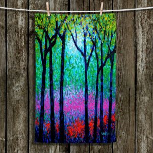 Unique Hanging Tea Towels | John Nolan - Spring Woodland | Forest Trees