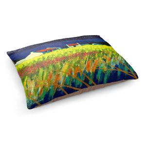 Decorative Dog Pet Beds | John Nolan - Starry Night | landscape farm field nature