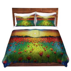 Artistic Duvet Covers and Shams Bedding | John Nolan - Sunburst Poppies