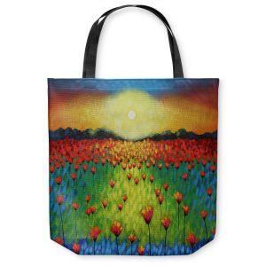 Unique Shoulder Bag Tote Bags | John Nolan Sunburst Poppies