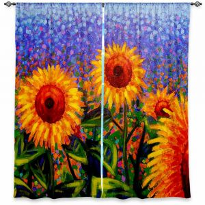 Unique Window Curtain Unlined 40w x 52h from DiaNoche Designs by John Nolan - Sunflowers