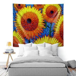 Artistic Wall Tapestry | John Nolan - Sunflowers 2 | still life nature flowers