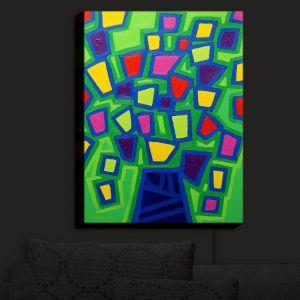 Nightlight Sconce Canvas Light   John Nolan - Tree of Life Green   abstract shapes simple nature