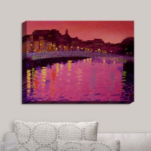 Decorative Canvas Wall Art   John Nolan - Twilight Ha Penny Bridge Dublin